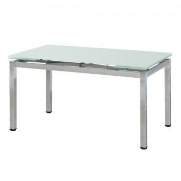 Mesa comedor extensible cristal friends mesas comedor for Guias para mesas extensibles