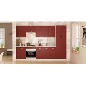 Cocina KIT 300 cm. con despensero en Burdeos