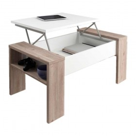 Mesa centro elevable ANA en color blanco brillo Nelson